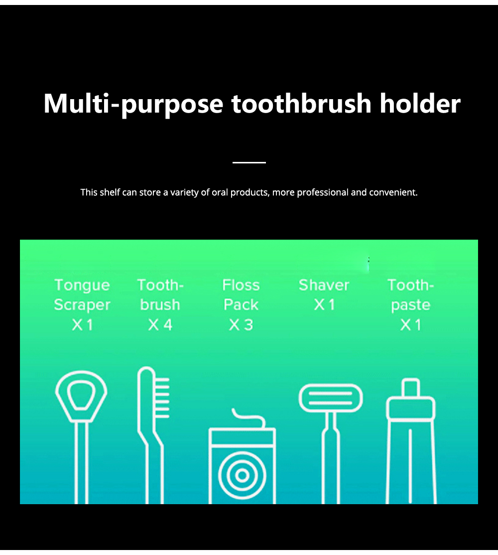 PURETTA Multifunctional Toothbrush Sterilizer Solar-powered Household Toothbrush Sterilizer Drying Boxes Toothpaste Appliances 2