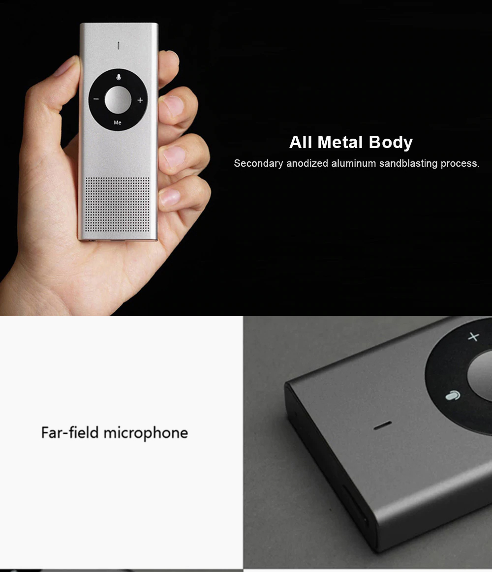Portable AI Translator for Language Learning Business Talking Multilingual Metal-made Intelligent Translator Device Real-time Inter-translation Tool 4