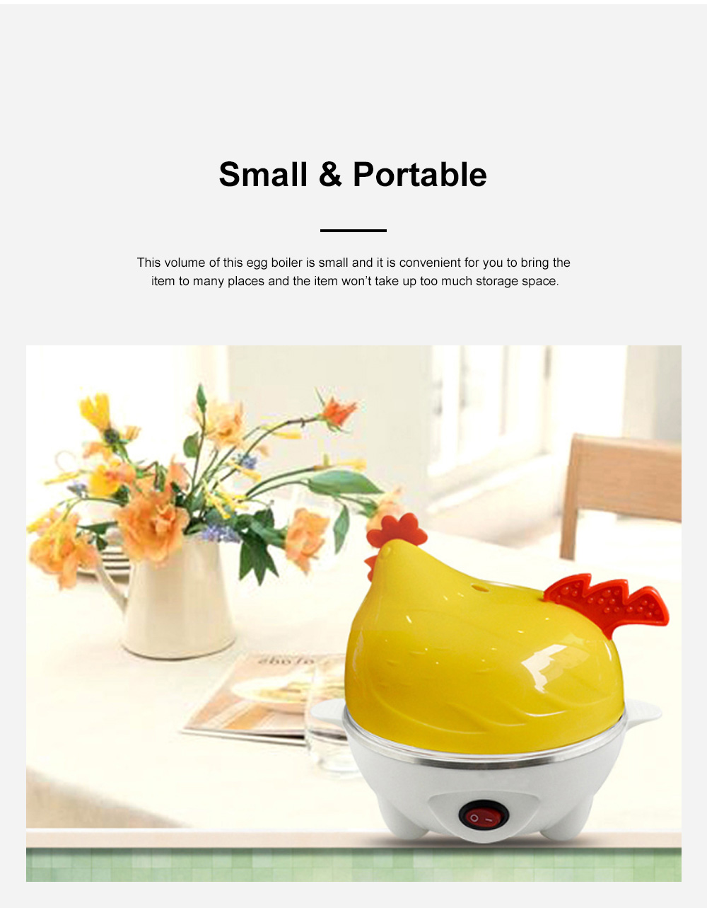 Cute Creative Carton Chicken Model Automatic Egg Boiler Multifunctional Egg Cooker Breakfast Assistant 3