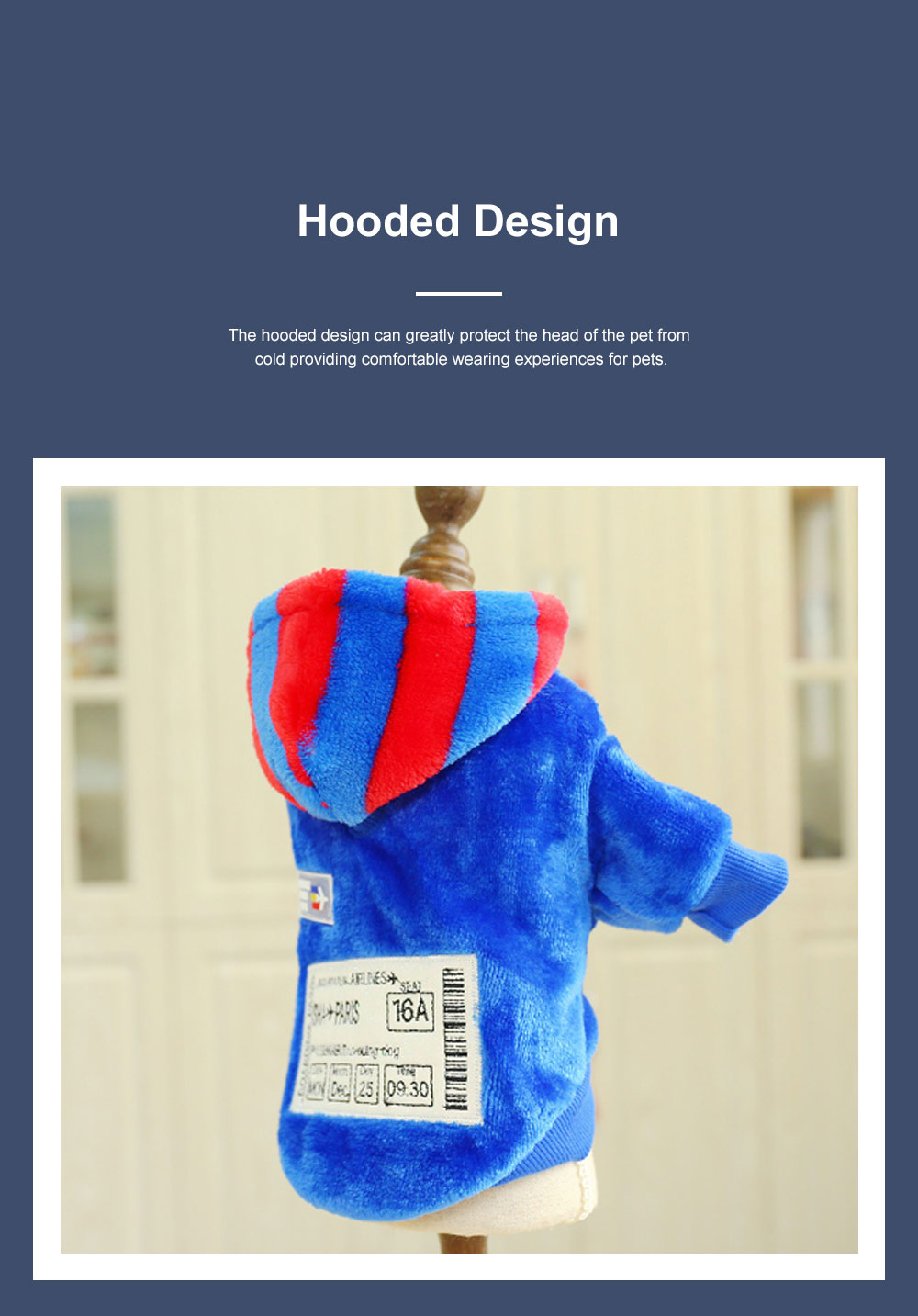 Creative Boarding Check Warm Pet Hoodie Embroidery Decorative Winter Autumn Puppy Little Dog Cat Pet Cloth Hooded Fleece 2