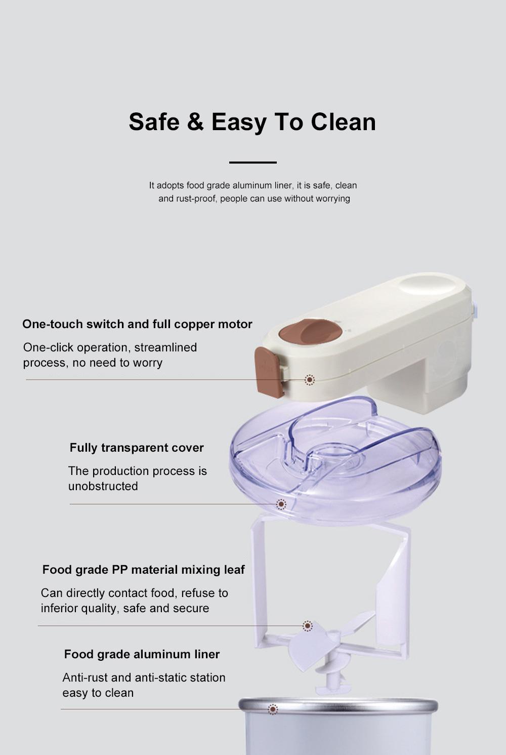 High Quality Mini Ice Cream Machines Homemade Fruit Cone Ice Cream Machine Automatic Ice Cream Maker 6