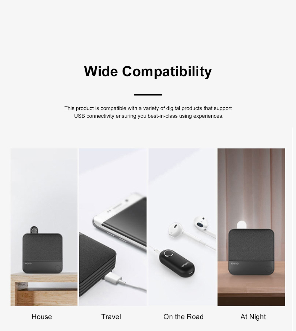 Portable Multifunctional Outdoors Bluetooth Music Box Suit Sound Box Wide Compatibility Power Bank Night Light 5