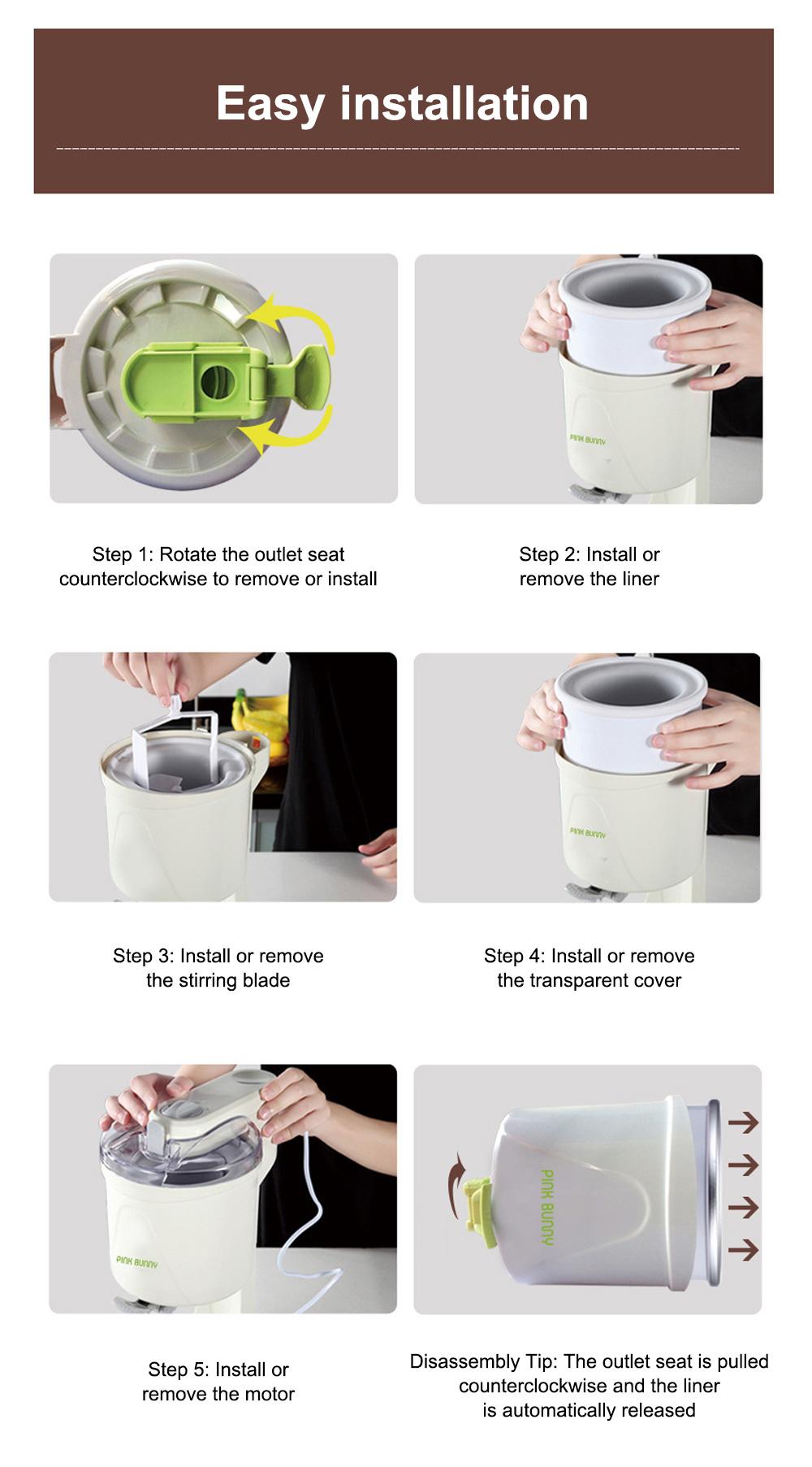 High Quality Mini Ice Cream Machines Homemade Fruit Cone Ice Cream Machine Automatic Ice Cream Maker 10