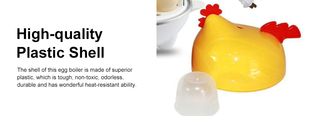 Cute Creative Carton Chicken Model Automatic Egg Boiler Multifunctional Egg Cooker Breakfast Assistant 4