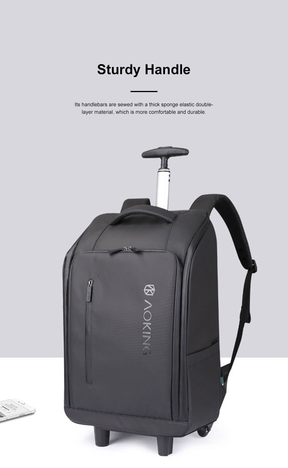 Business Style Tie-rod Backpack Boarding Shoulder Travel Bag Male and Female Large Capacity Schoolbag Computer Bag 2