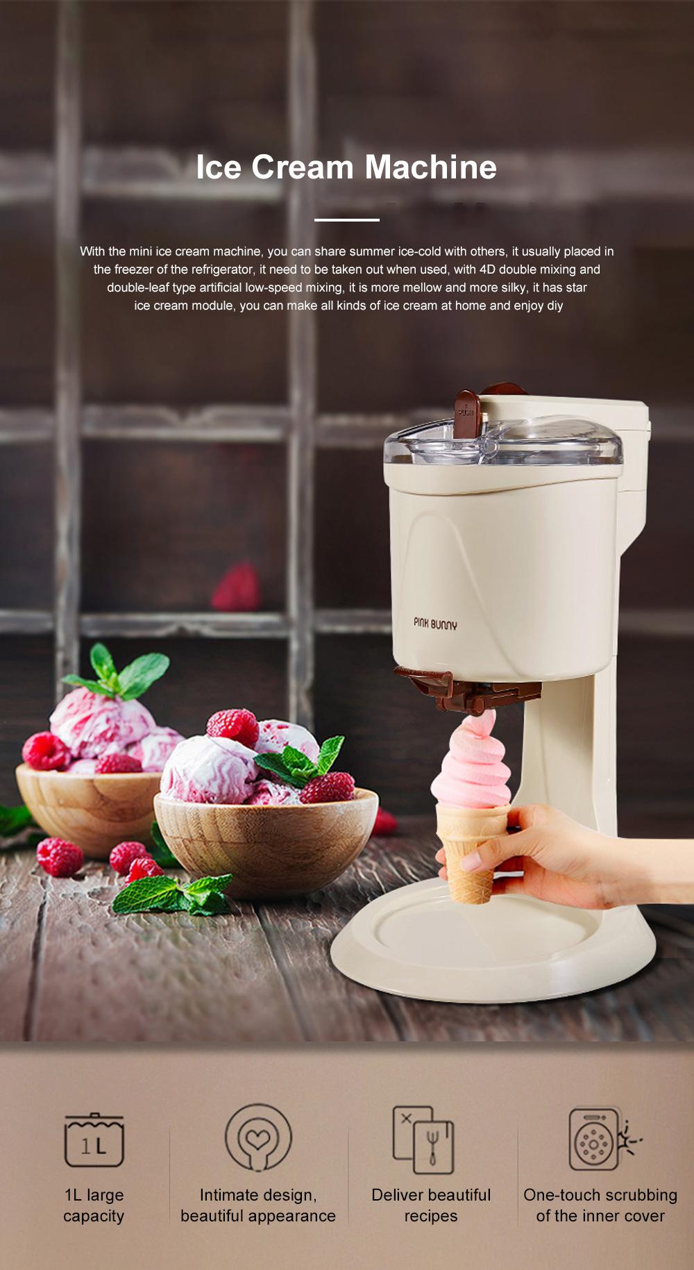 High Quality Mini Ice Cream Machines Homemade Fruit Cone Ice Cream Machine Automatic Ice Cream Maker 0