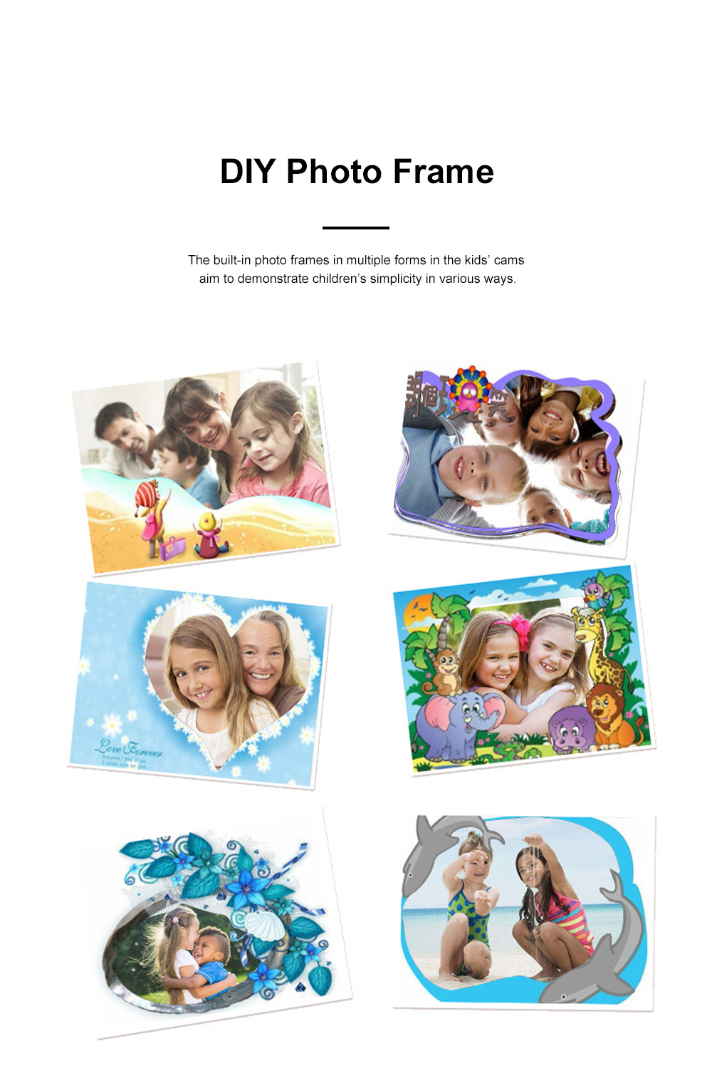Mini Digital Camera for Children's Gift Environment-friendly ABS Funny Kids' Cams Durable Outdoor Video Camera Portable Cartoon Camera 3