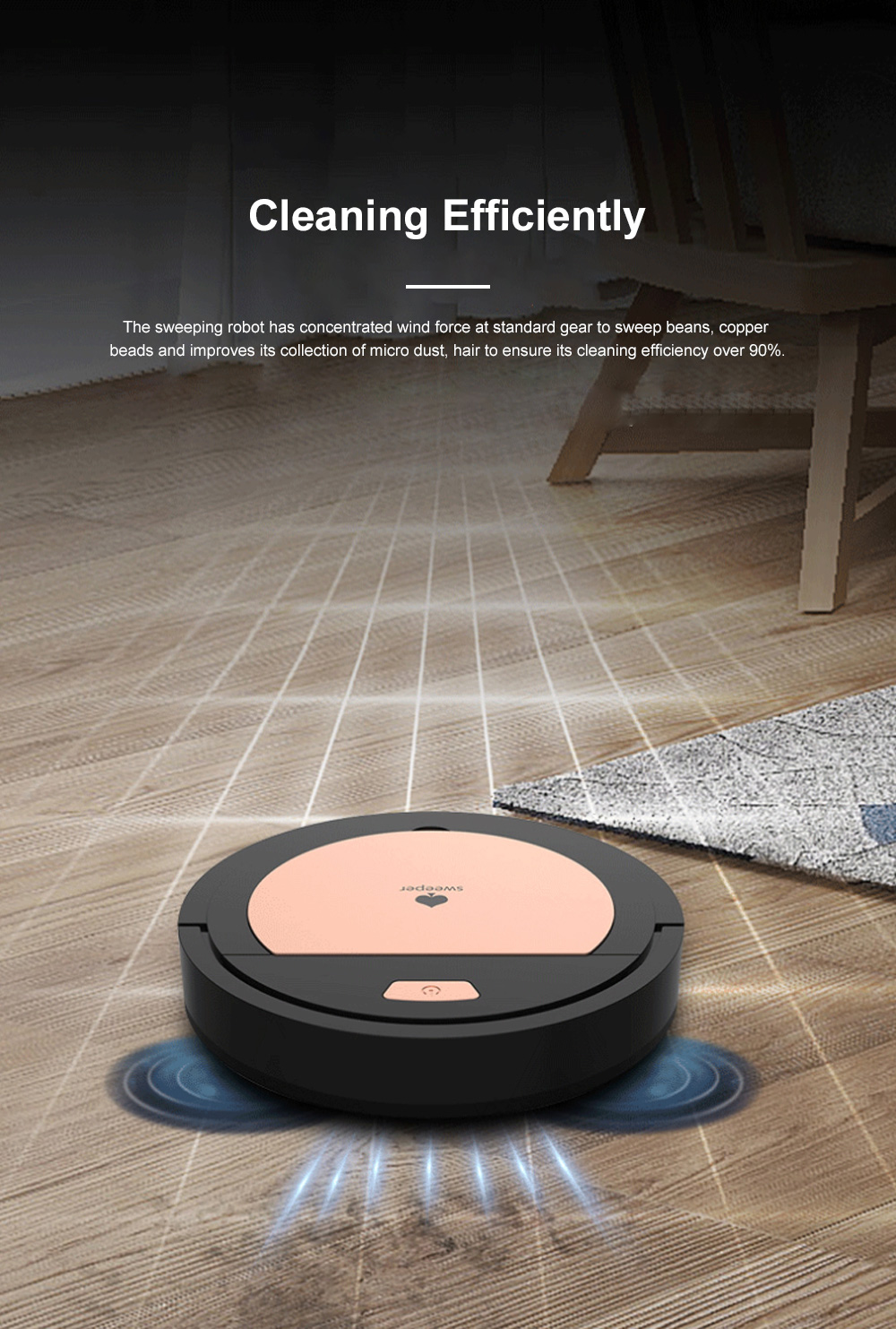 Creative Sweeping Robot for House Cleaning Rechargeable Household Auto Robot Cleaner Nice-looking Dust Collector 9