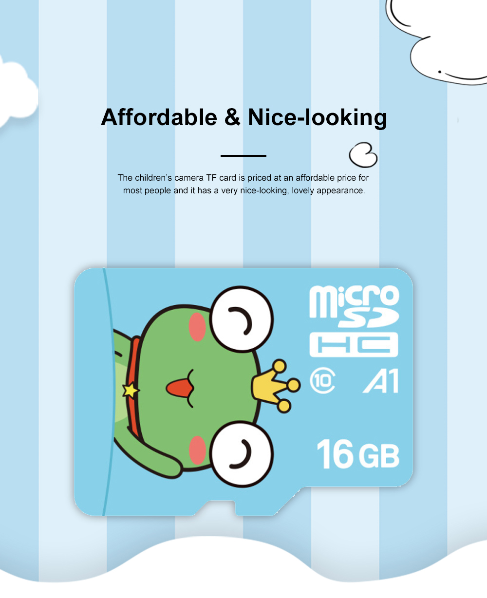 Lovely Micro SD Card for Children's Camera Use Hight Transmission Speed TF Card Large Capacity Memory Card Class 10 3
