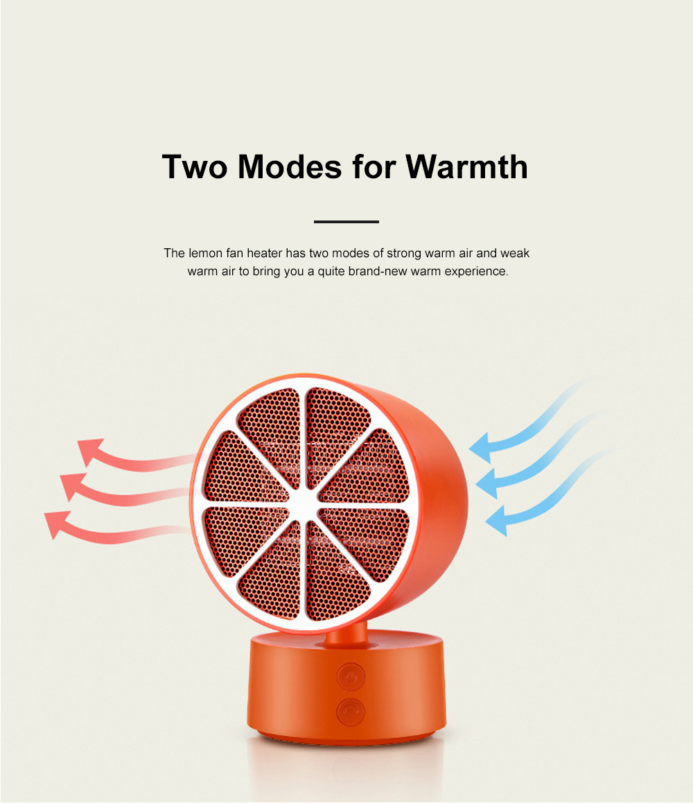 Portable Mini Fan Heater for Office Warming Fireproof Domestic Warm Air Blower Small Size Oscillating Heater Fan 7
