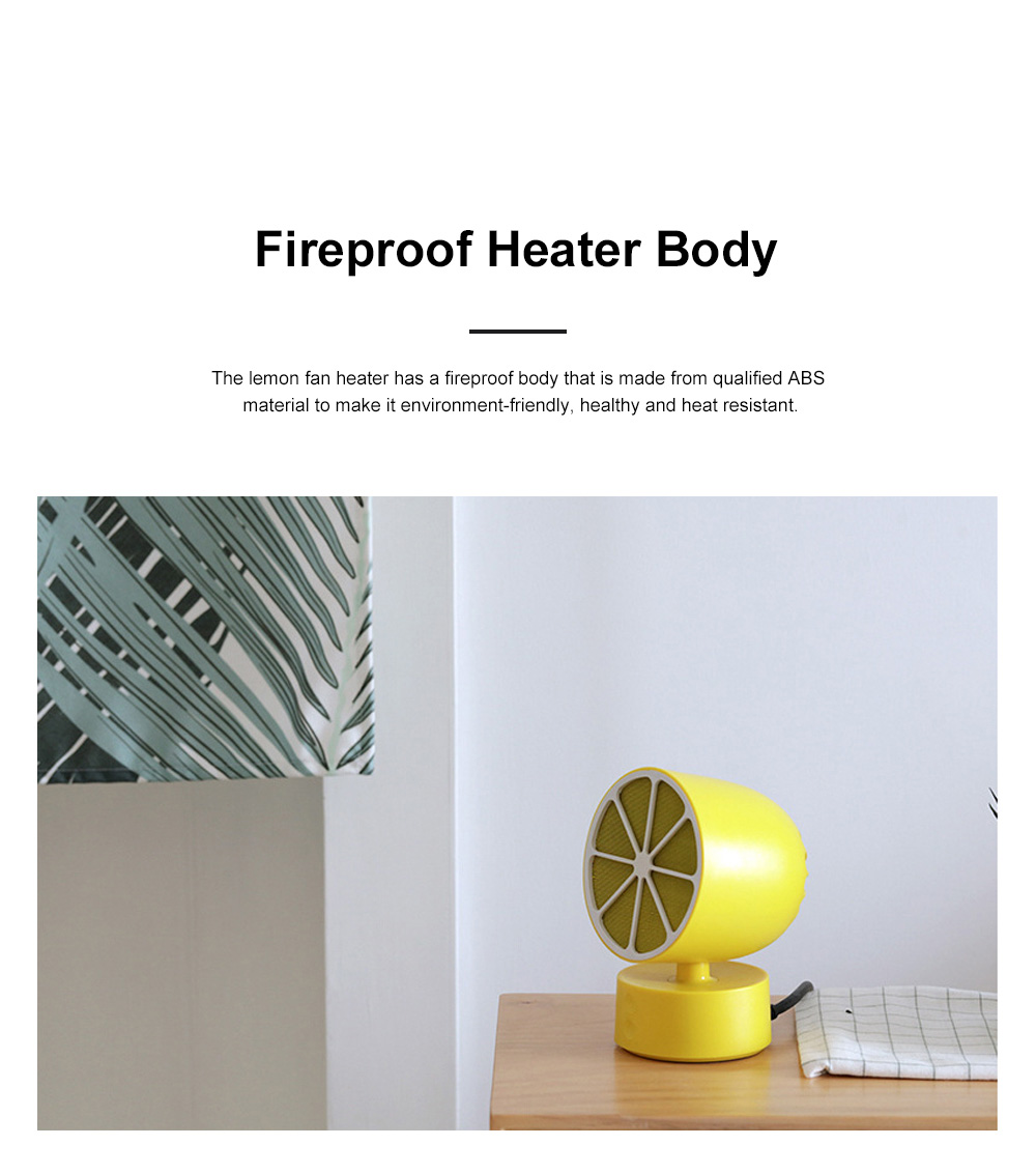 Portable Mini Fan Heater for Office Warming Fireproof Domestic Warm Air Blower Small Size Oscillating Heater Fan 6