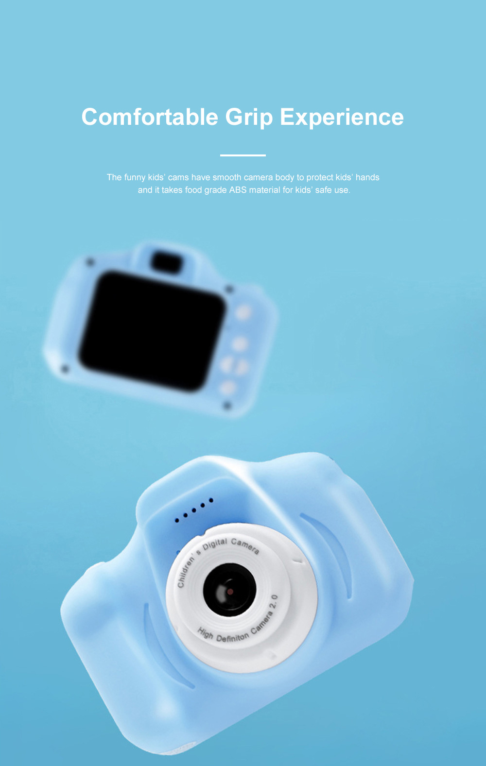 Mini Digital Camera for Children's Gift Environment-friendly ABS Funny Kids' Cams Durable Outdoor Video Camera Portable Cartoon Camera 4