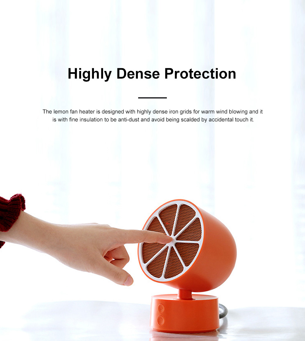 Portable Mini Fan Heater for Office Warming Fireproof Domestic Warm Air Blower Small Size Oscillating Heater Fan 8