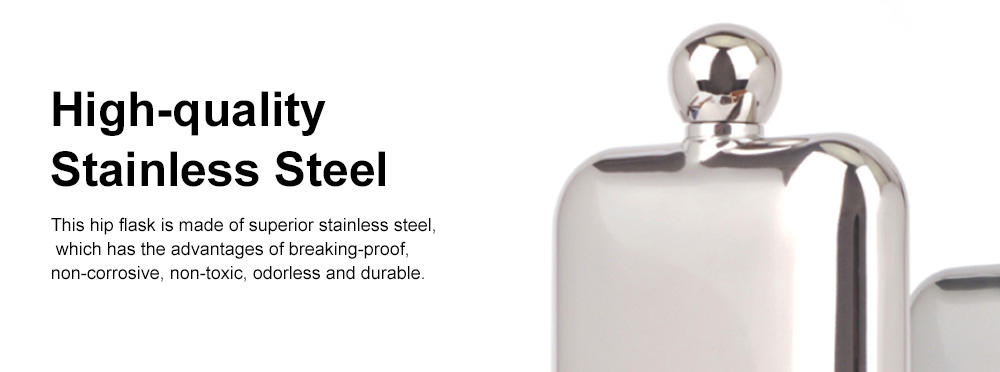 Portable Whiskey Pot Creative Smooth Shiny Polished Stainless Steel Flagon Large Capacity Wine Pot With 2 Cups for Men Women 4