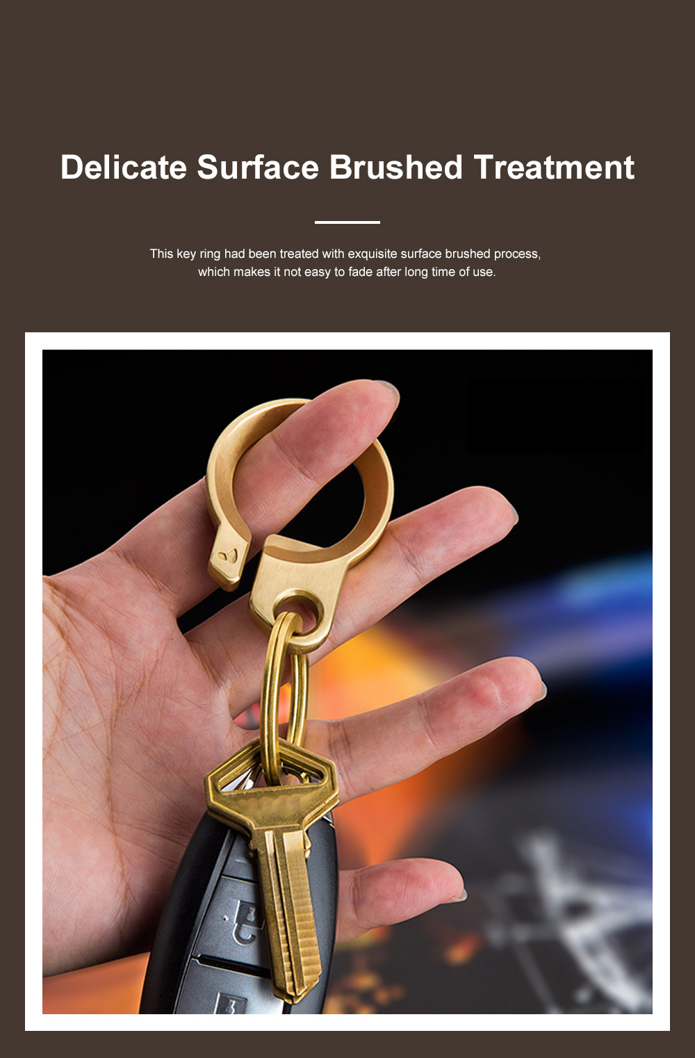 Creative Fancy Delicate Brass Copper Car Key Chain Ring Minimalist Atmosphere Convenient Functional Bottle Opener Waist Key Chain Creative Key Ring Opener 2