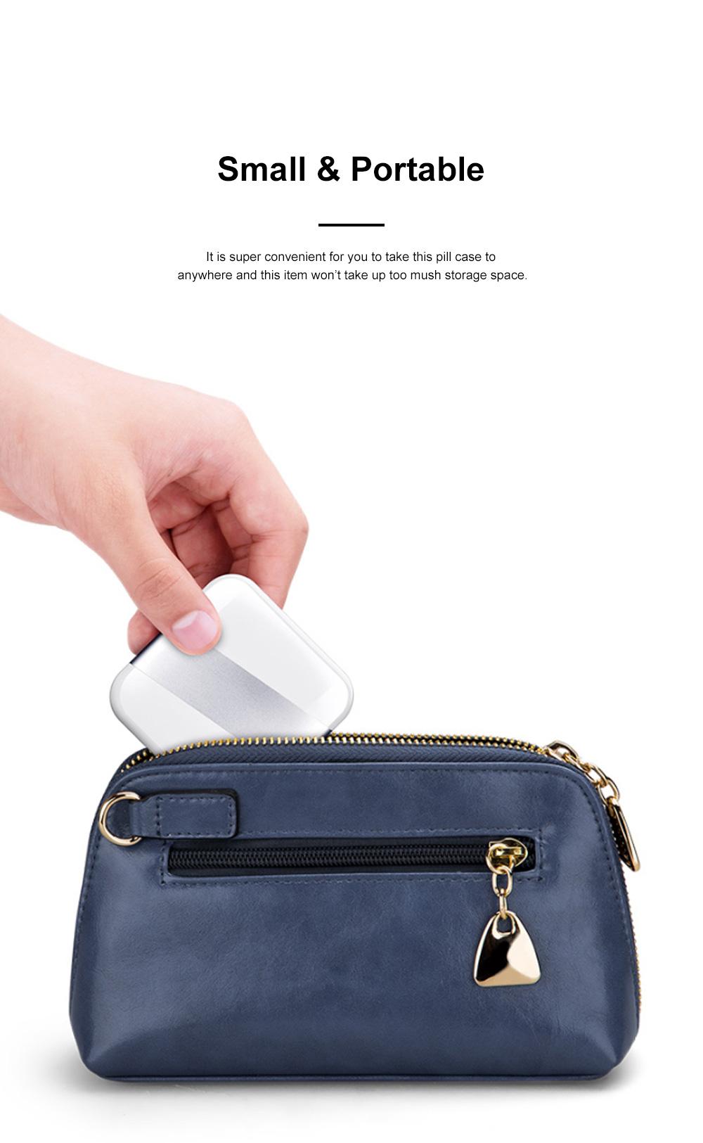 Minimalist Portable Creative Push-pull Split Slots Food-grade ABS Little Pill Case Jewelry Chewing Gum Storage Box 3
