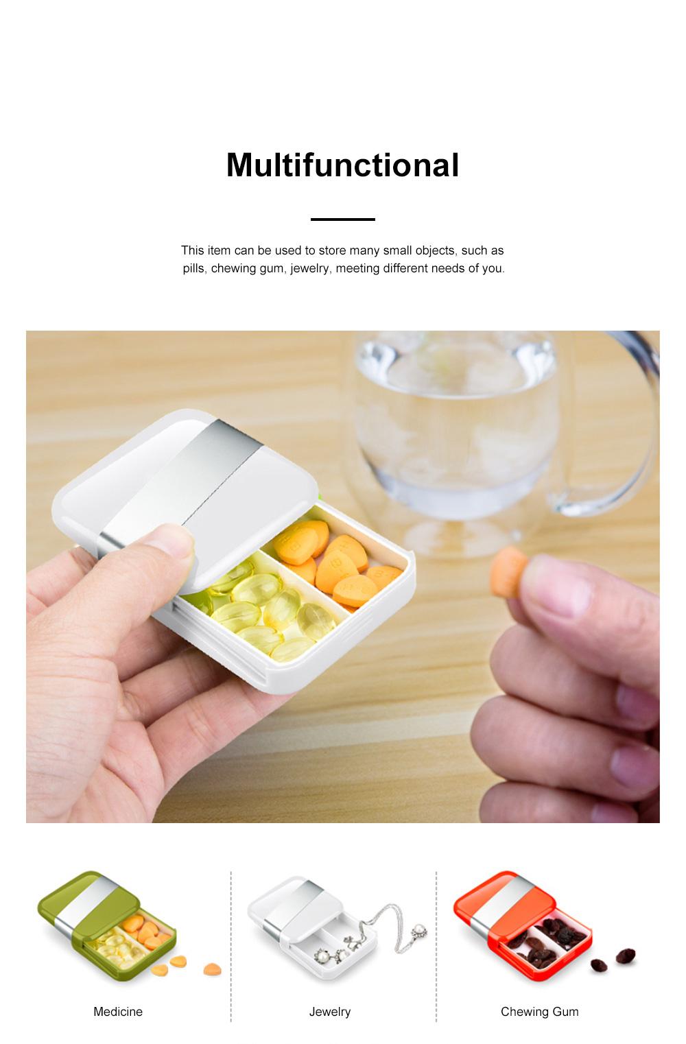Minimalist Portable Creative Push-pull Split Slots Food-grade ABS Little Pill Case Jewelry Chewing Gum Storage Box 5