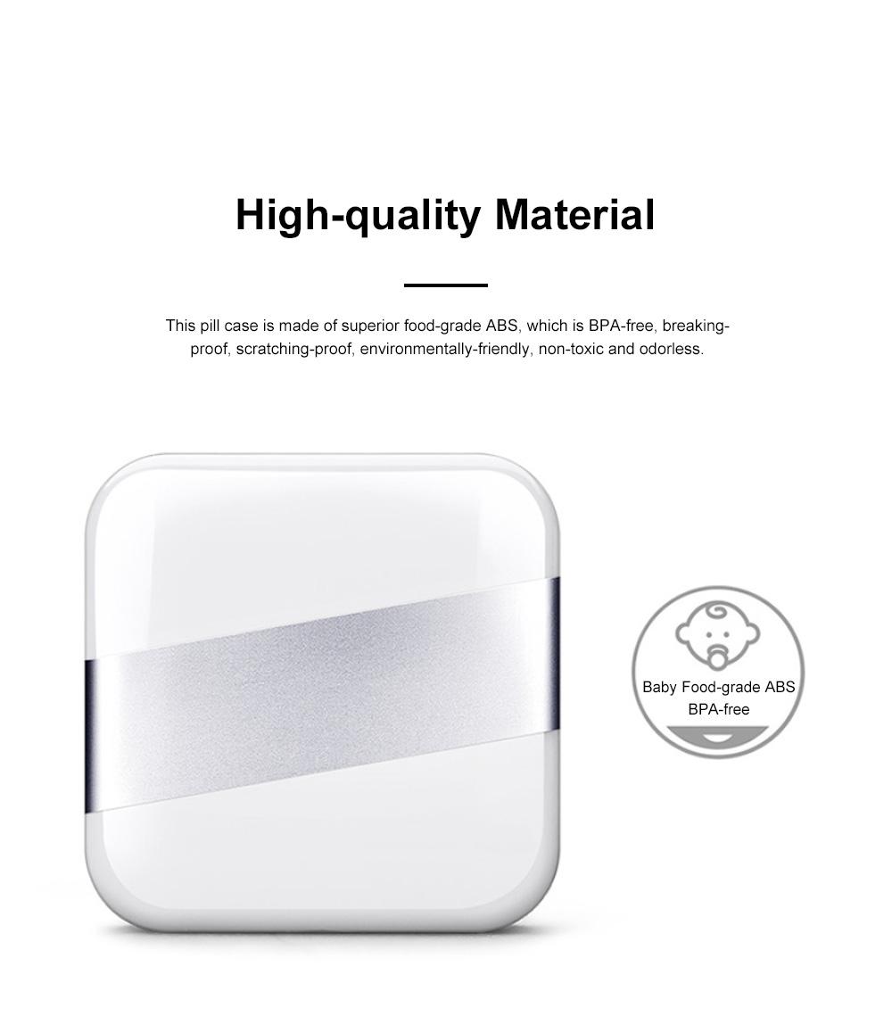 Minimalist Portable Creative Push-pull Split Slots Food-grade ABS Little Pill Case Jewelry Chewing Gum Storage Box 1