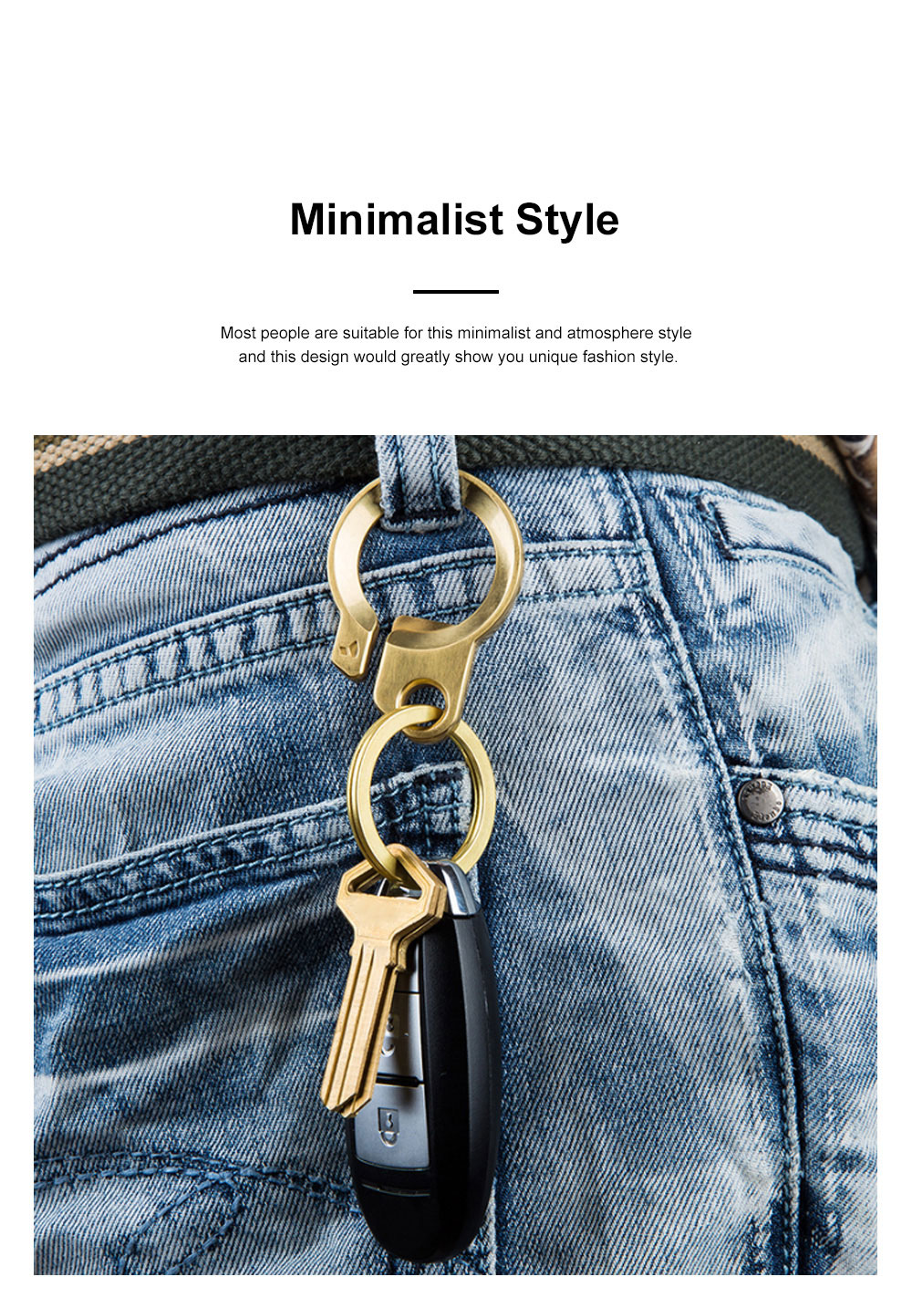 Creative Fancy Delicate Brass Copper Car Key Chain Ring Minimalist Atmosphere Convenient Functional Bottle Opener Waist Key Chain Creative Key Ring Opener 1