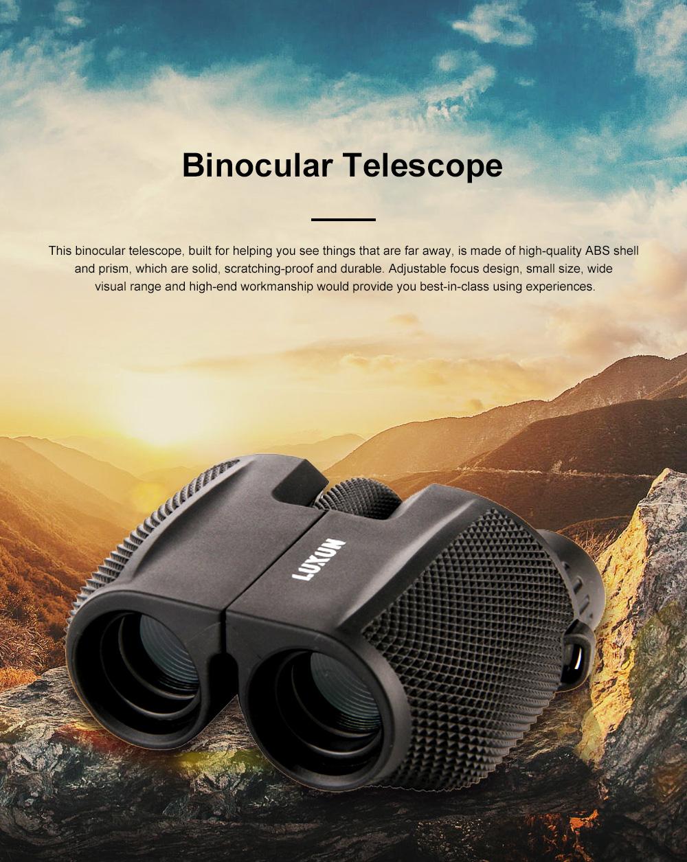Portable Handy Waterproof High-powered High Definition Telescope Binoculars Pancratic Lens Adjustable Focus 0