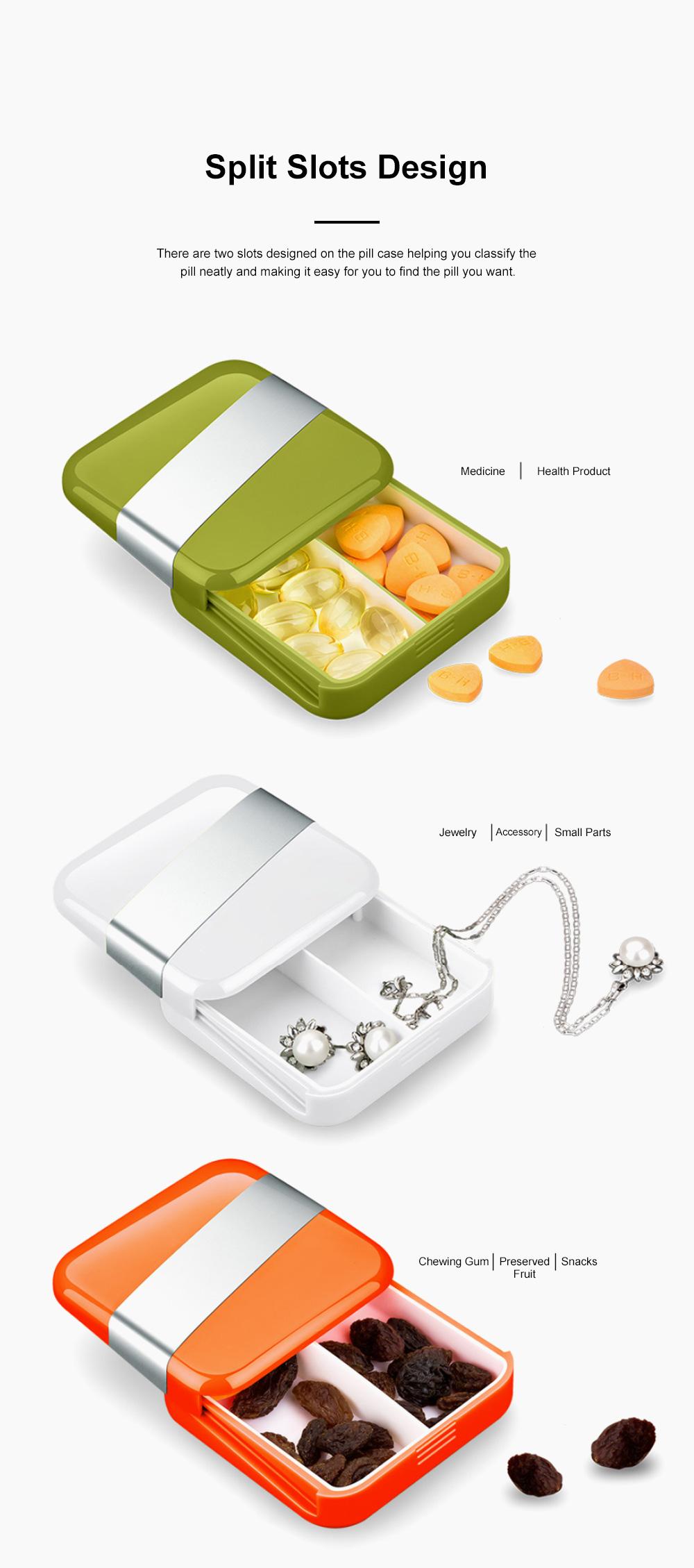 Minimalist Portable Creative Push-pull Split Slots Food-grade ABS Little Pill Case Jewelry Chewing Gum Storage Box 4