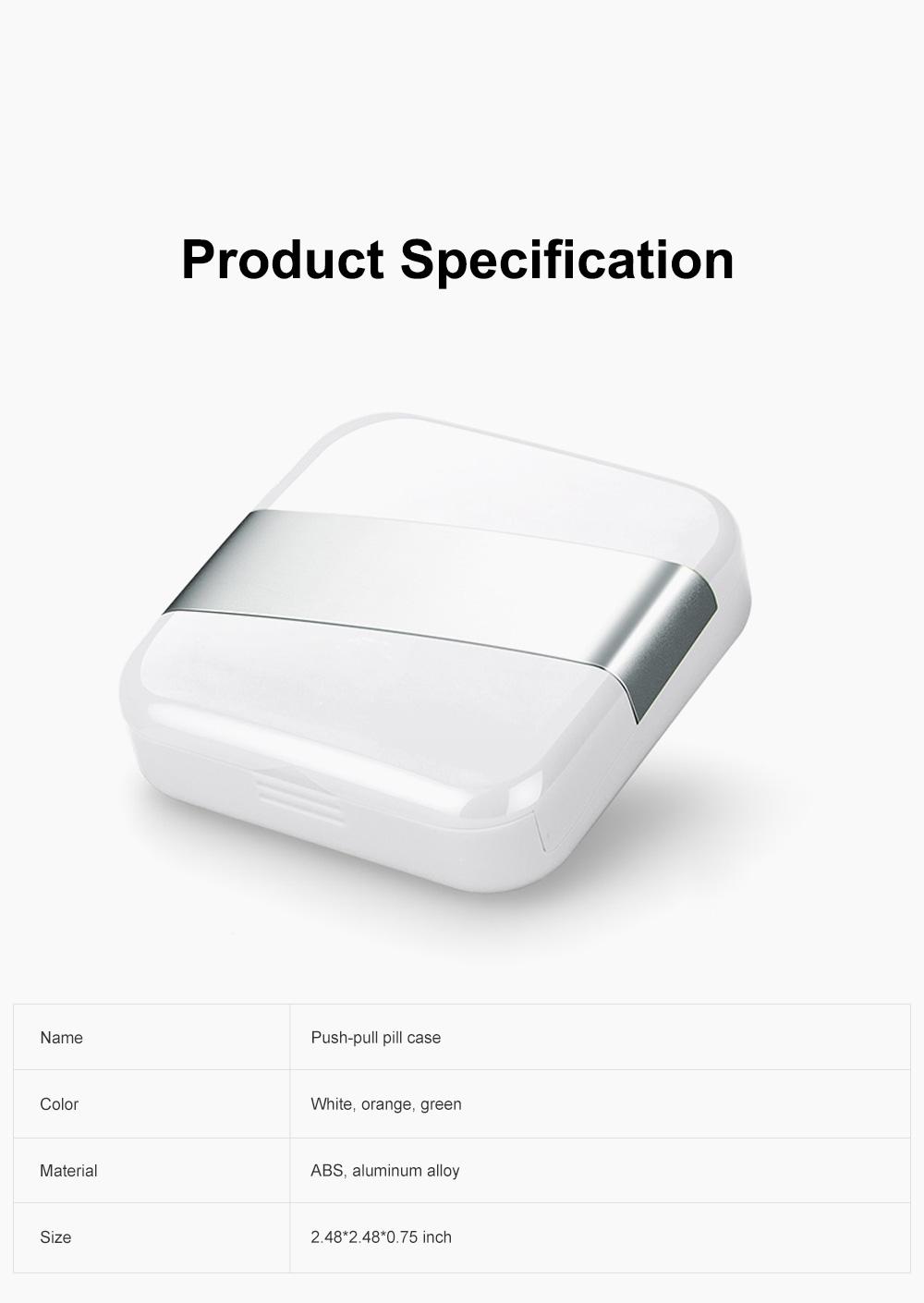 Minimalist Portable Creative Push-pull Split Slots Food-grade ABS Little Pill Case Jewelry Chewing Gum Storage Box 6