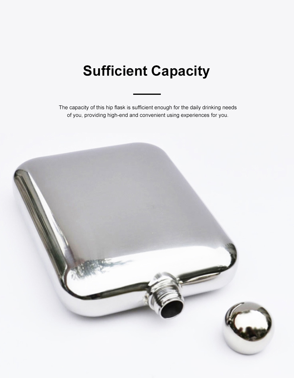 Portable Whiskey Pot Creative Smooth Shiny Polished Stainless Steel Flagon Large Capacity Wine Pot With 2 Cups for Men Women 3