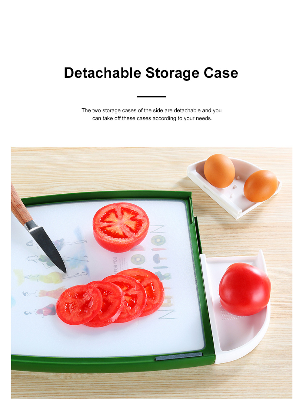 Multifunctional Double-sided Usable Chopping Board with Handle Detachable Two Storage Cases Ginger Knife Grinder Meat Punch 1