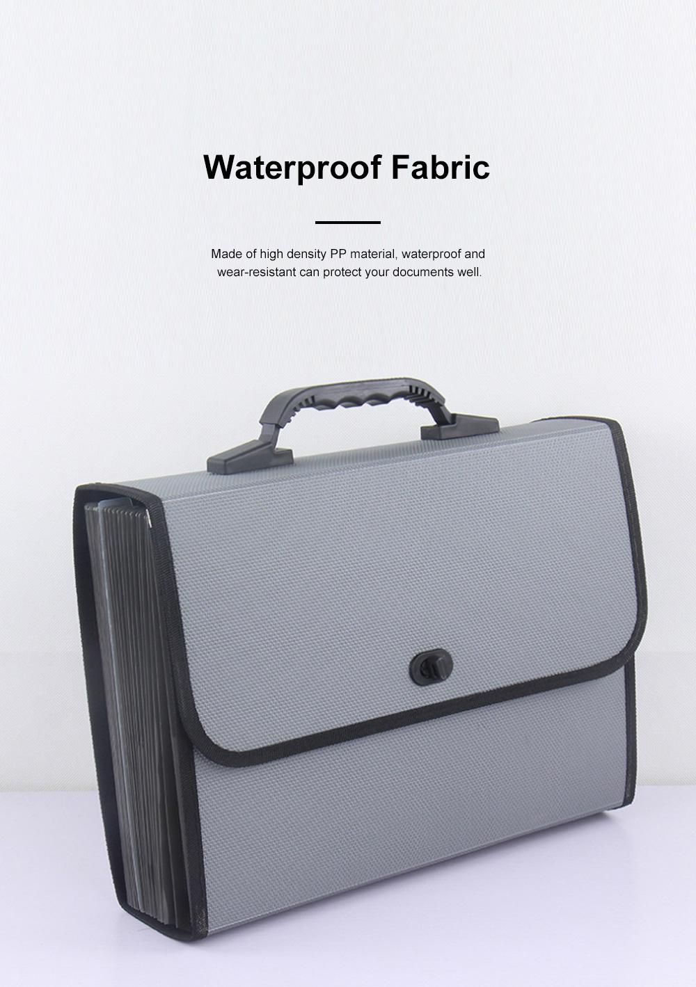 Portable Hand-held Knitted Organ Bag 26-tier Multi-tier Folders Office File Bag Paper File Bag 2