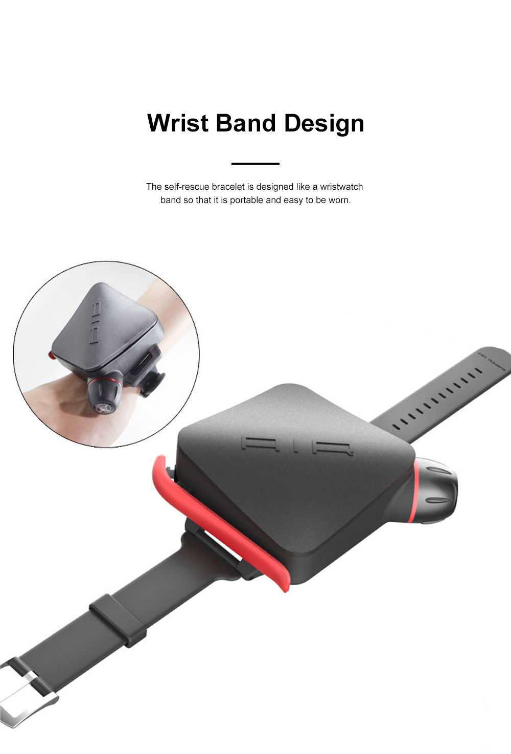Self-rescue Bracelet with TPU Composite Air Bag for Underwater Activities Surfing Swimming Drowning Prevention Wristband Self-aid Underwater Bracelet 1