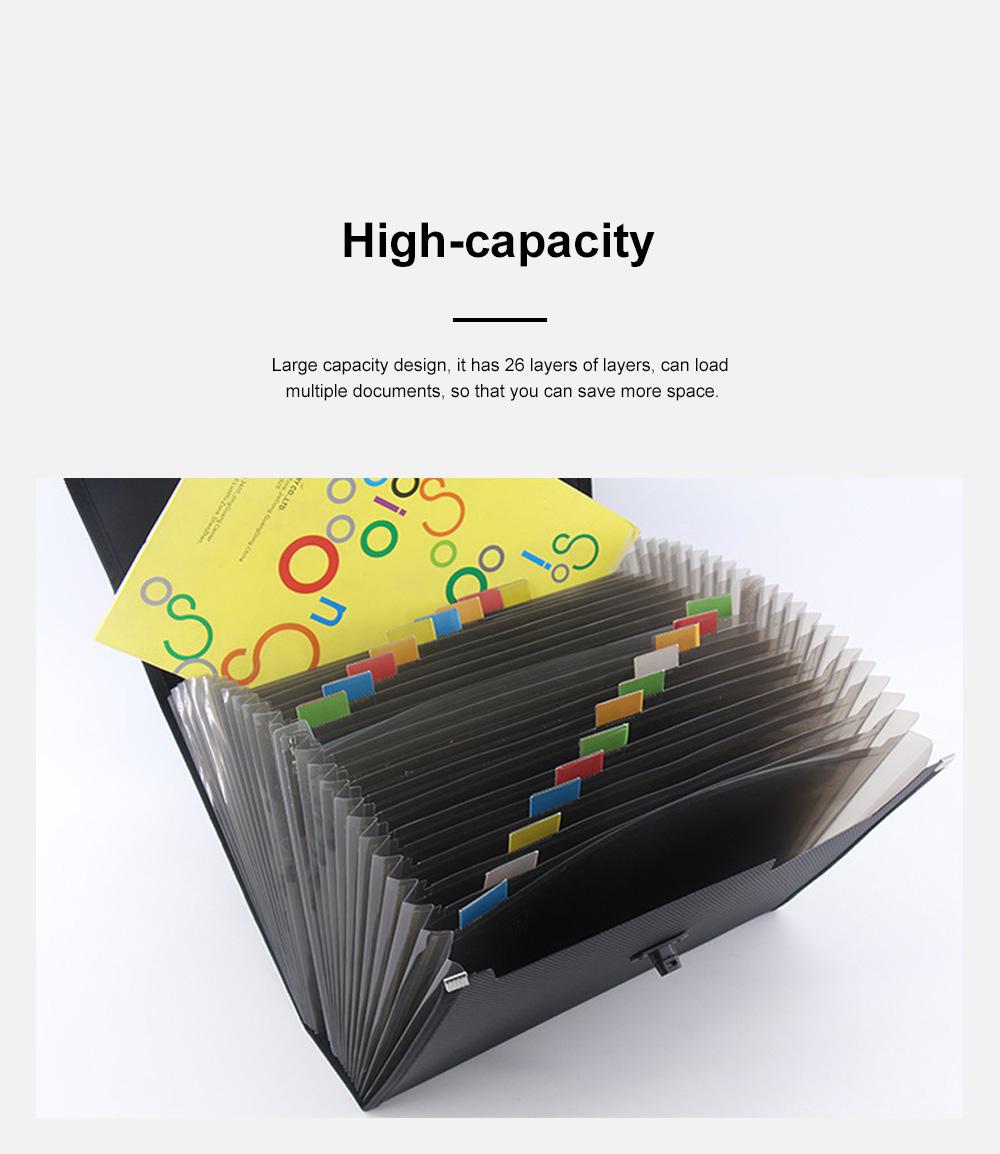 Portable Hand-held Knitted Organ Bag 26-tier Multi-tier Folders Office File Bag Paper File Bag 3