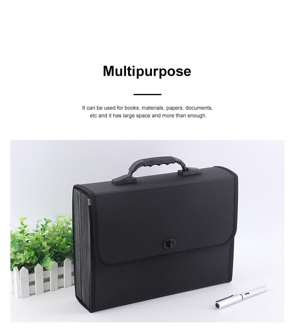 Portable Hand-held Knitted Organ Bag 26-tier Multi-tier Folders Office File Bag Paper File Bag 1