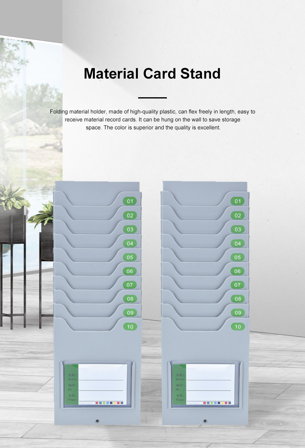 Material Card Stand Warehouse Material Card Rack Stand Card Bag Stock Card Card Board 0