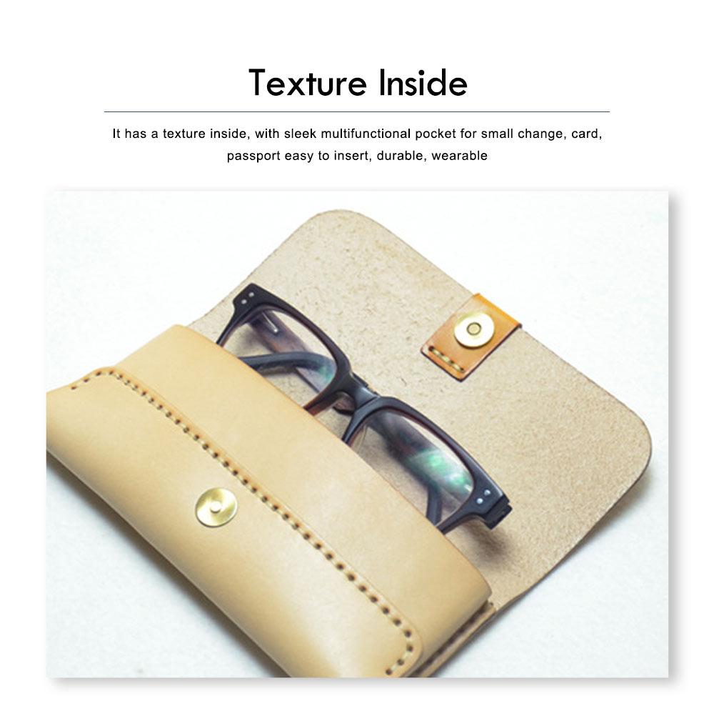 Handmade Leather Japanese Glasses Bag, Vegetable Tanned Leather Glasses Case, Hit Color Leather Glasses Bag 4