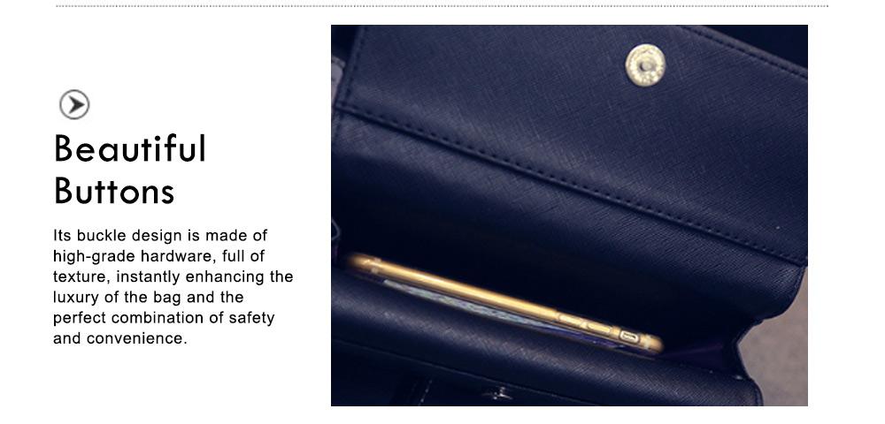 Long Double Cover Clutch, New Fashion Women wallet,European and American Pop Pun Style Rivet Handbag 5
