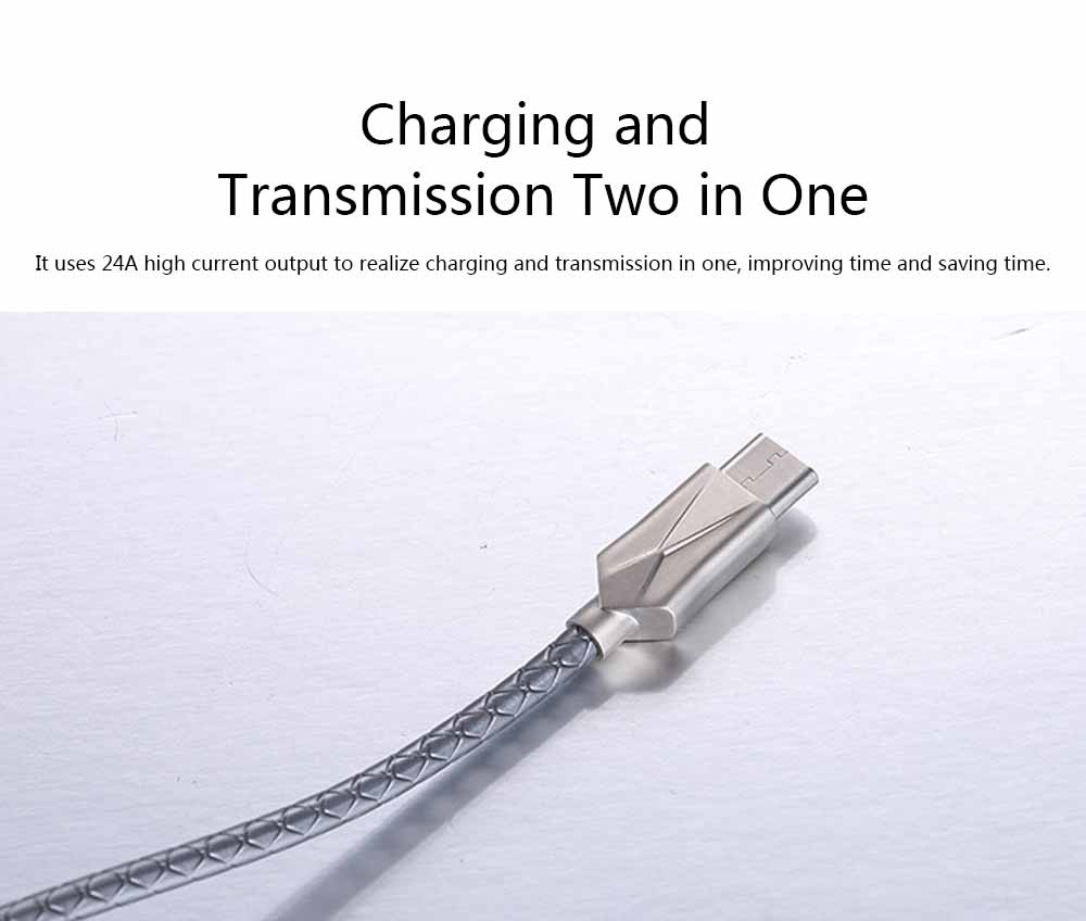 Mobile Phone Data Cable for Apple, Universal USB Cable Suitable for iPhone 7 Andrews Huawei Universal TPE Zinc Alloy Charging Cable 6