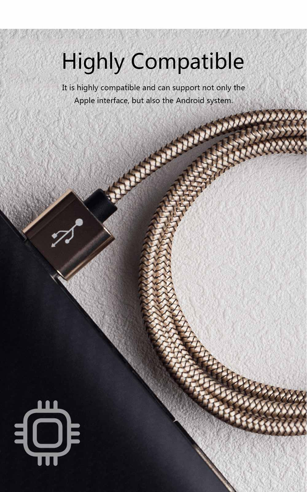 Customized 1 Meter 2 Meters 3 Meters Universal Data Line, Suitable for Apple Millet Huawei Mobile Phone Charging Line 2.4A Power Cable 5