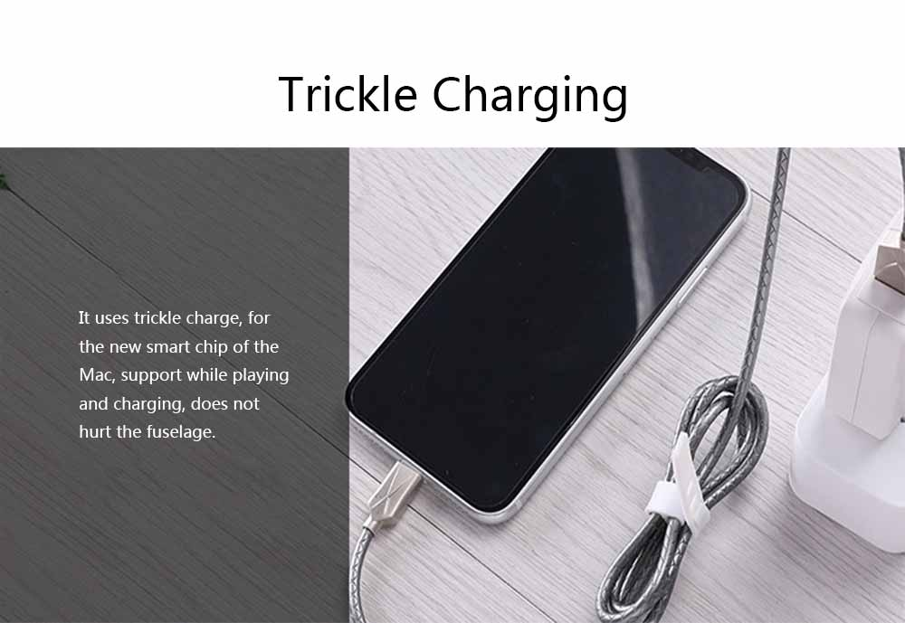 Mobile Phone Data Cable for Apple, Universal USB Cable Suitable for iPhone 7 Andrews Huawei Universal TPE Zinc Alloy Charging Cable 5