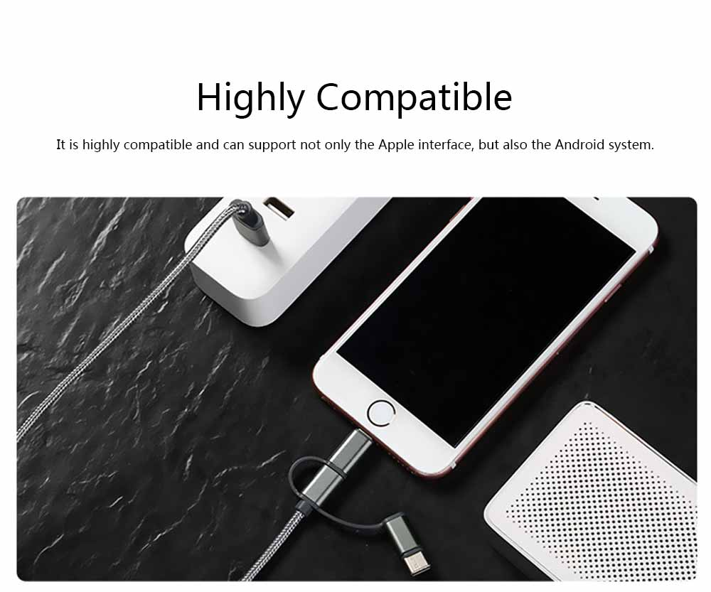 One Drag Three Data Cable, Braided Line Apple Android Data Cable, Three-in-one Nylon Mobile Phone Charging Cable 5