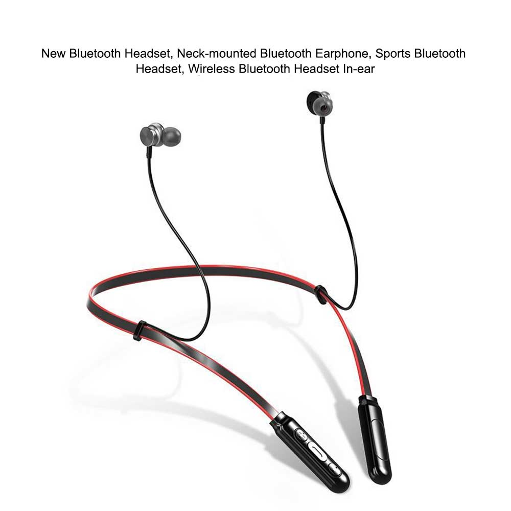 New Bluetooth Headset Neck-mounted Bluetooth Earphone, Sports Bluetooth Headset, Wireless Bluetooth Headset In-ear 1