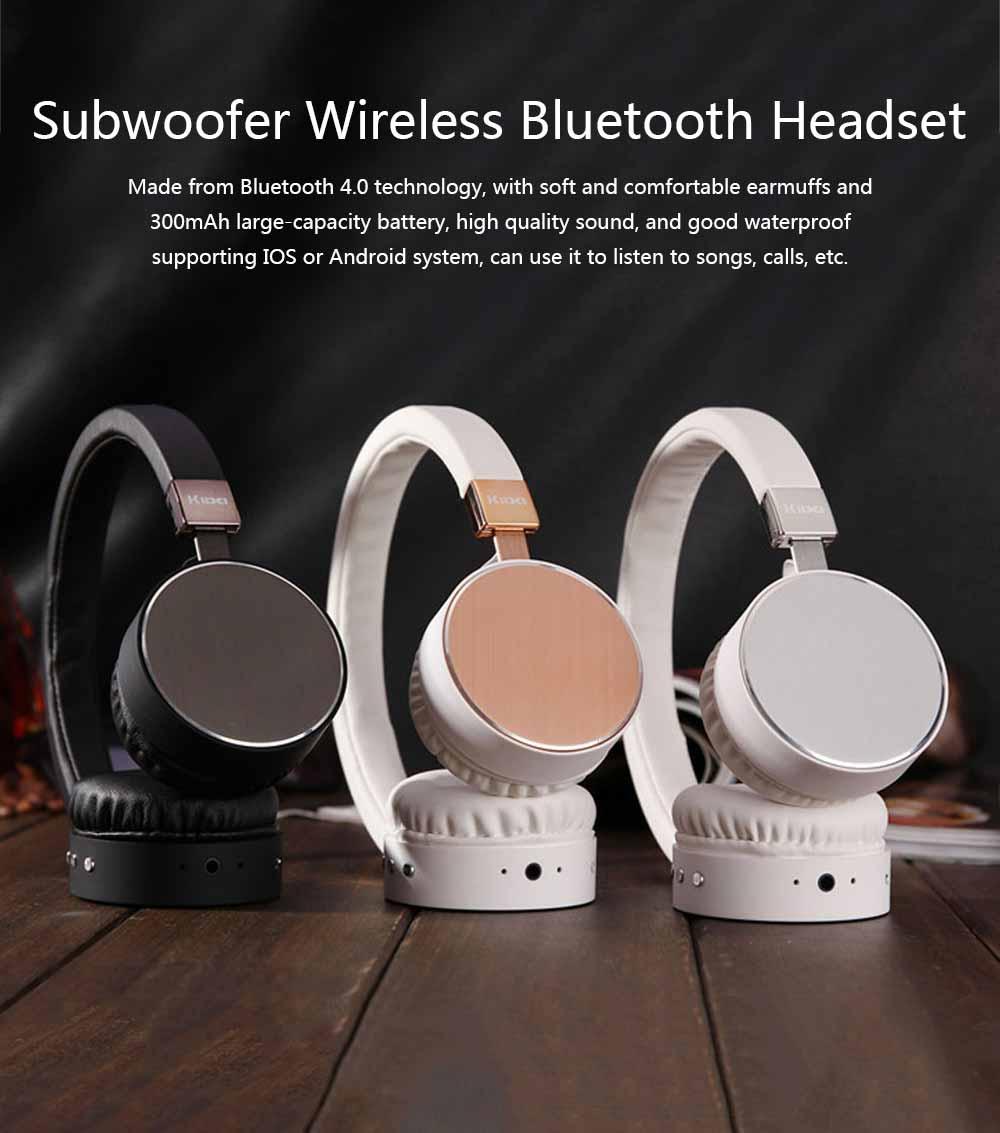 Headset Subwoofer Wireless Bluetooth Headphones Smart Stereo Sports Phone Headset, Universal Mini Headset Gaming Bluetooth Earphone 0