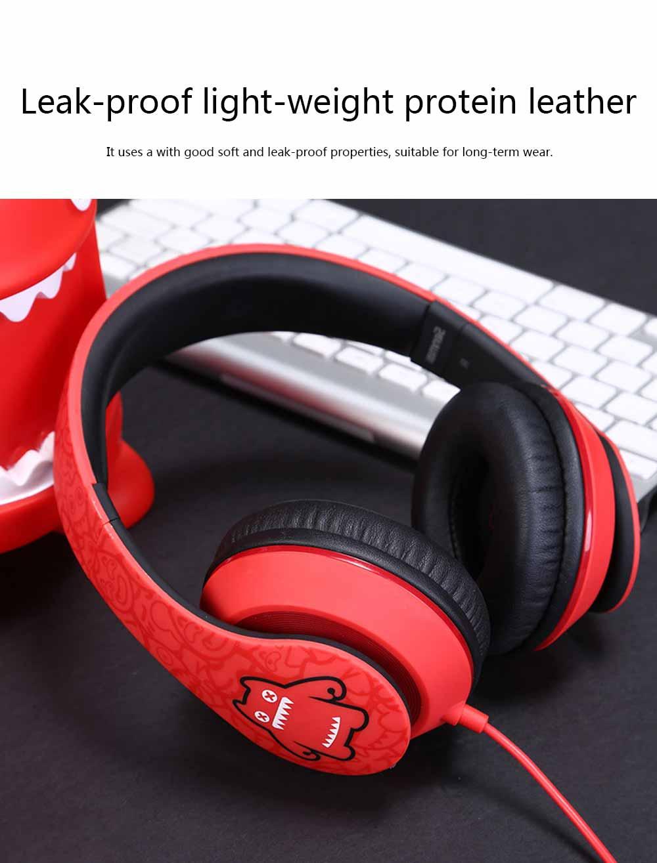Devil Cat Sound Magic Headphones, Computer Game Music Headphones Subwoofer with Microphone, Bluetooth Earphone 4