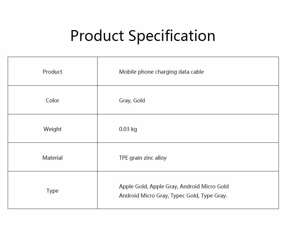 Mobile Phone Data Cable for Apple, Universal USB Cable Suitable for iPhone 7 Andrews Huawei Universal TPE Zinc Alloy Charging Cable 7