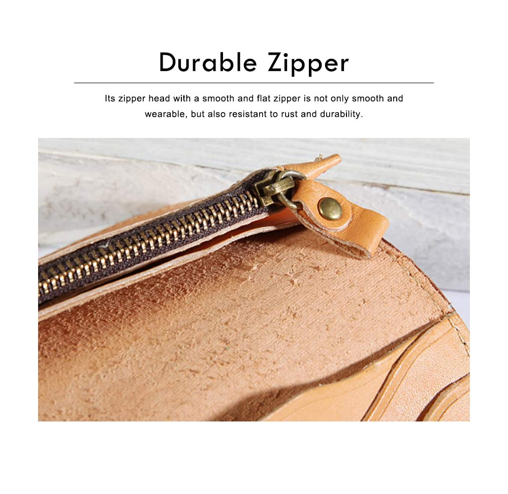 New Long Leather Cutch Fashion Vegetable Tanned Wallet for Ladies, New Handmade Suede Leather Wallet 3