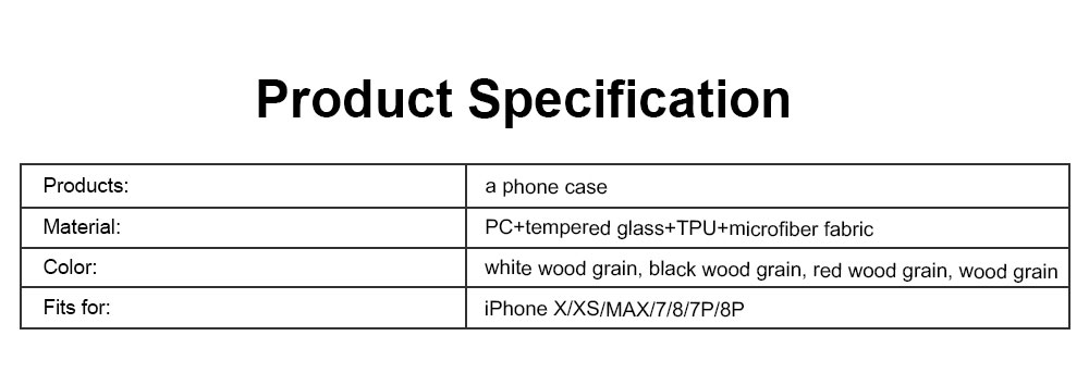 Wood Grain with Tempered Glass Phone Case Compatible for iPhone X/XS/MAX/7/8/7P/8P, Anti-impact Tempered Glass Phone Case Wood Grain Protective Phone Cover 7
