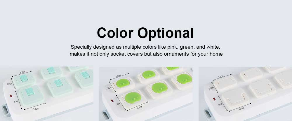 Baby Safety Socket Cover, ABS Electric Shock Resistance Outlet Hard Shell, Universal Pop Socket Cover, Electric-Shock Safeguard Outlet Cover 6 Packs 5