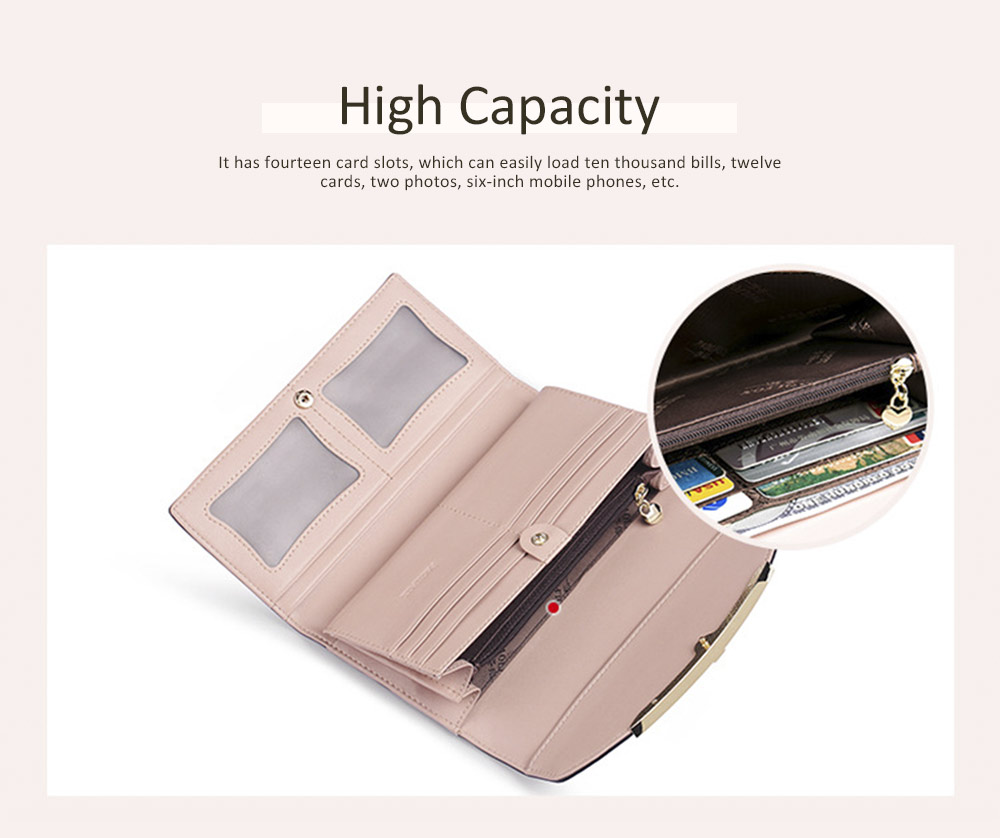 Women's Long Clutch for Shopping Dating Party, Korean Large Capacity Female Wallet, Imported Vegetable Tanned Cowhide Clutch 3