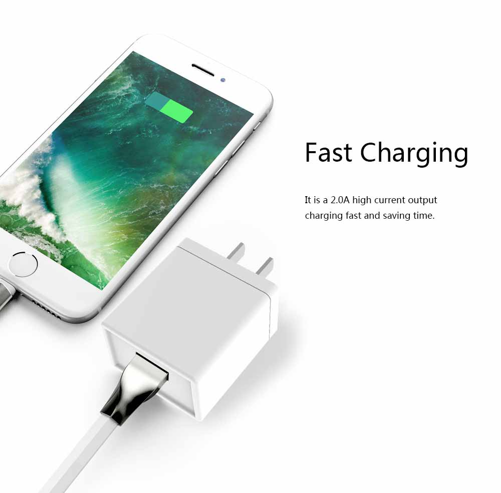 3C Certified 5V 2A Charging Head Single USB Power Adapter Mobile Phone Charger 3