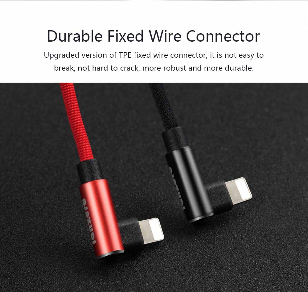 Elbow Data Line 2.4A Apple Iphone 6/7/8 X Android Type-c Fabric Weaving Mobile Phone Data Cable, Mobile Phone Charging Data Cable 3