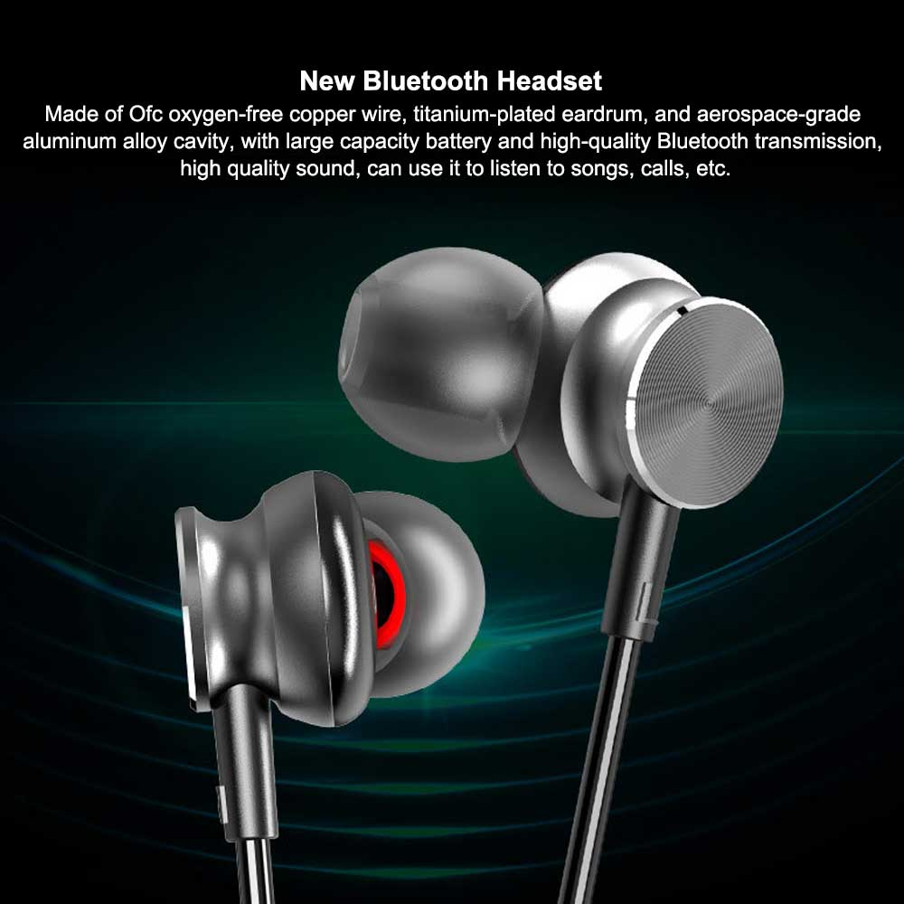 New Bluetooth Headset Neck-mounted Bluetooth Earphone, Sports Bluetooth Headset, Wireless Bluetooth Headset In-ear 0